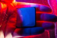 CPU RAM teknologi av detelektroniska begreppet Teknologi arthouse, överhettning av den centrala processorn CPU som kyler med vatt royaltyfri bild