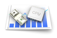CPU Review Royalty Free Stock Photo