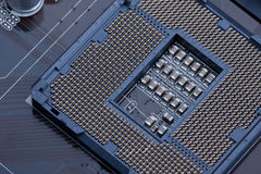 CPU socket 1156 stock photography