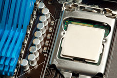 Cpu in the socket Royalty Free Stock Photo