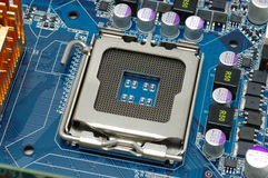 CPU socket Stock Image