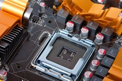 CPU Socket 775 Royalty Free Stock Photo