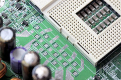 CPU Socket in board computer. Royalty Free Stock Image