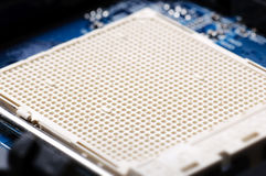 CPU Socket Closeup Royalty Free Stock Images