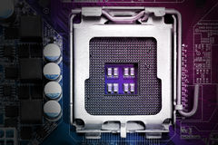 Cpu socket Royalty Free Stock Images
