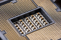 CPU Socket On Computer Motherboard Stock Photos