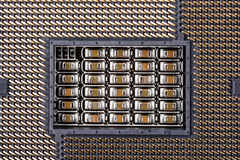 CPU Socket On Computer Motherboard Stock Image