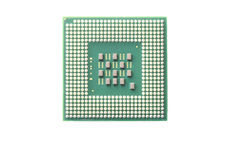 CPU Socket isolated. Royalty Free Stock Photos