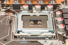 CPU Socket On Motherboard Stock Photography