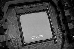 CPU socket on motherboard Royalty Free Stock Image