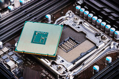 CPU socket and processor Royalty Free Stock Images