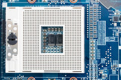 CPU socket in top view Royalty Free Stock Images