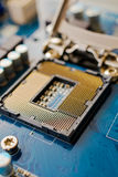 CPU socket Stock Photo