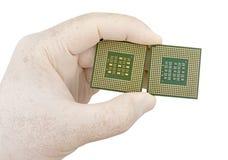 CPU som isoleras på vit bakgrund Arkivbilder