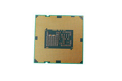 CPU som isoleras på vit bakgrund Royaltyfri Fotografi