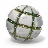 CPU. Sphere från dators processorer .3d Arkivfoton