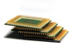 Cpu in stapel Stock Afbeeldingen