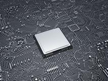 CPU sul circuito Fotografie Stock