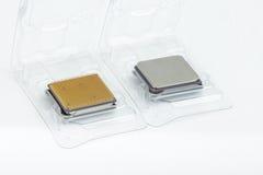CPU två i den öppna asken Arkivfoton