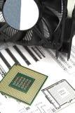 CPU und Kühler stockfoto