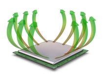 CPU-uppvärmning Royaltyfri Fotografi