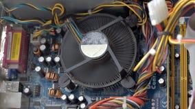 Cpu-ventilatoreinden stock footage