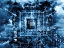 CPU virtuelle Image stock