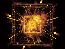 CPU Vision. Backdrop design of CPU graphic and abstract design elements to provide supporting composition for illustrations on digital equipment, computing and stock photography