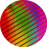 CPU wafer Royalty Free Stock Image