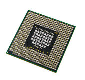 Cpu on a white background. Cpu isolated on a white background Royalty Free Stock Photography