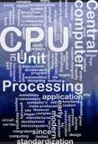 CPU word cloud Royalty Free Stock Photos