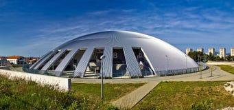 Cúpula do salão de esporte de Zadar panorâmico Imagens de Stock Royalty Free