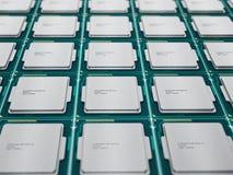 CPUs in Folge Stockfoto