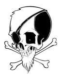 Cráneo aislado en el fondo blanco libre illustration