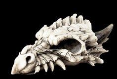 Cráneo blanco del animal de la fantasía Imagen de archivo libre de regalías