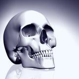 cráneo coloreado 3D Imagen de archivo libre de regalías