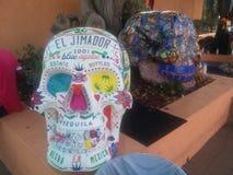 Cráneo colorido fotografía de archivo