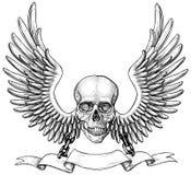 Cráneo con alas Fotos de archivo libres de regalías