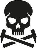Cráneo con el martillo cruzado libre illustration