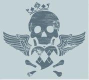 Cráneo con las alas Fotografía de archivo libre de regalías