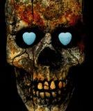 cráneo con los corazones del caramelo de la conversación Fotos de archivo libres de regalías