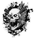 Cráneo de griterío ilustración del vector