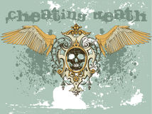 Cráneo de Grunge Imagen de archivo