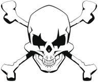 Cráneo de la bandera pirata Imagen de archivo libre de regalías