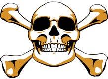 Cráneo de la bandera pirata Foto de archivo libre de regalías