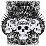 Cráneo de la entidad stock de ilustración