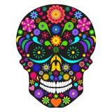 Cráneo de la flor stock de ilustración