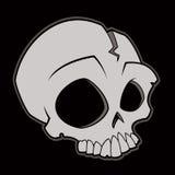 Cráneo de la historieta Imágenes de archivo libres de regalías