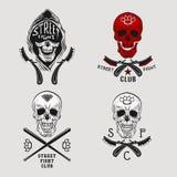 Cráneo de la lucha de la calle libre illustration