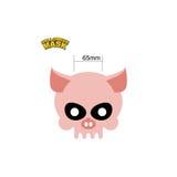 Cráneo de la máscara de Halloween de un cerdo Estimado jefe del esqueleto de un anima Imagen de archivo
